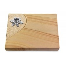 Grabtafel Rainbow Folio Rose 4 (Alu)