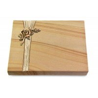 Grabtafel Rainbow Strikt Rose 1 (Bronze)