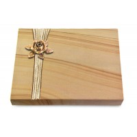 Grabtafel Rainbow Strikt Rose 4 (Bronze)