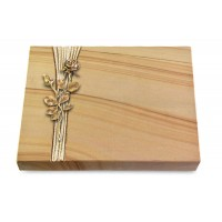Grabtafel Rainbow Strikt Rose 13 (Bronze)