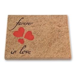 Grabtafel - Motiv Forever in Love