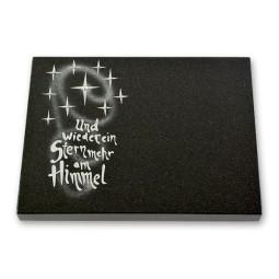 Grabtafel - Motiv ein Stern mehr