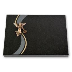 Grabtafel - Motiv fliegender Engel