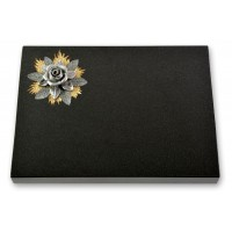 Grabtafel - Motiv Rose auf Gold