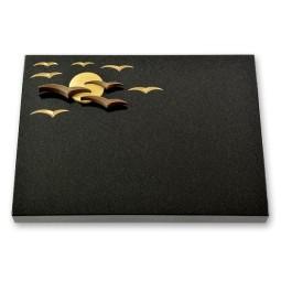 Grabtafel - Motiv Vogelschwarm