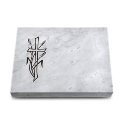 Grabtafel Omega Marmor Pure Kreuz 4