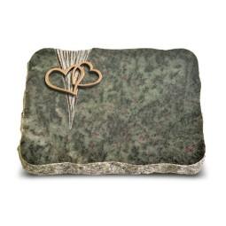 Tropical Green Delta Herzen (Bronze)