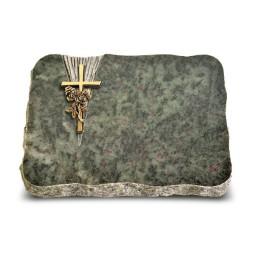 Tropical Green Delta Kreuz/Rose (Bronze)