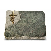 Tropical Green Folio Kreuz/Rose (Bronze)