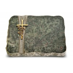 Tropical Green Strikt Kreuz/Rosen (Bronze)