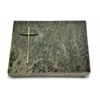 Grabtafel Tropical Green Pure Kreuz 2 (Bronze)
