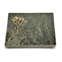 Grabtafel Tropical Green Pure Lilie (Bronze)