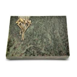 Grabtafel Tropical Green Delta Lilie (Bronze)