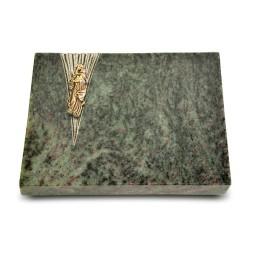 Grabtafel Tropical Green Delta Maria (Bronze)