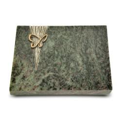 Grabtafel Tropical Green Delta Papillon (Bronze)