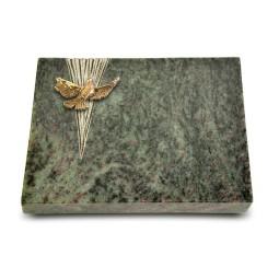 Grabtafel Tropical Green Delta Taube (Bronze)