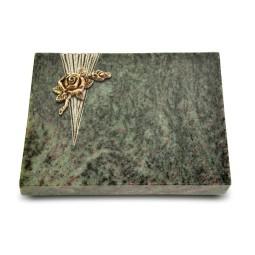 Grabtafel Tropical Green Delta Rose 1 (Bronze)