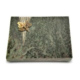 Grabtafel Tropical Green Delta Rose 3 (Bronze)