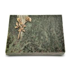 Grabtafel Tropical Green Delta Rose 10 (Bronze)
