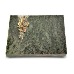 Grabtafel Tropical Green Delta Rose 11 (Bronze)