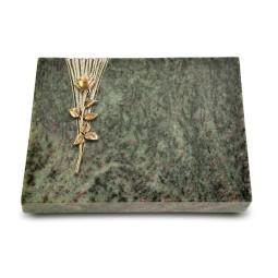 Grabtafel Tropical Green Delta Rose 12 (Bronze)