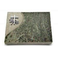 Grabtafel Tropical Green Folio Kreuz 1 (Alu)