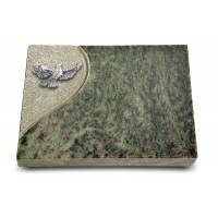 Grabtafel Tropical Green Folio Taube (Alu)