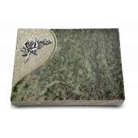 Grabtafel Tropical Green Folio Rose 1 (Alu)