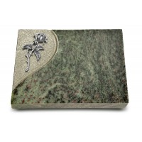 Grabtafel Tropical Green Folio Rose 2 (Alu)