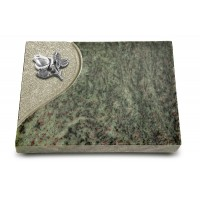Grabtafel Tropical Green Folio Rose 3 (Alu)