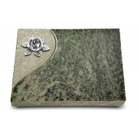 Grabtafel Tropical Green Folio Rose 4 (Alu)