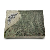 Grabtafel Tropical Green Folio Rose 5 (Alu)