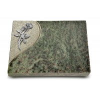 Grabtafel Tropical Green Folio Rose 6 (Alu)