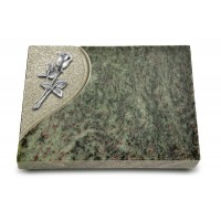 Grabtafel Tropical Green Folio Rose 8 (Alu)