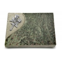 Grabtafel Tropical Green Folio Rose 11 (Alu)
