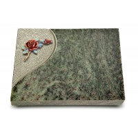 Grabtafel Tropical Green Folio Rose 1 (Color)