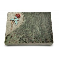 Grabtafel Tropical Green Folio Rose 2 (Color)