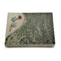 Grabtafel Tropical Green Folio Rose 4 (Color)