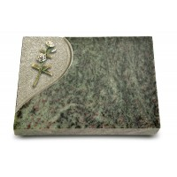 Grabtafel Tropical Green Folio Rose 8 (Color)