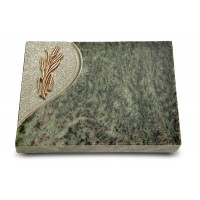 Grabtafel Tropical Green Folio Ähren 1 (Bronze)