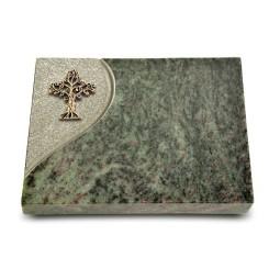 Grabtafel Tropical Green Folio Baum 2 (Bronze)