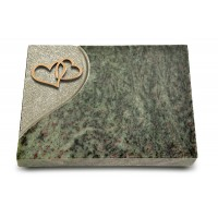 Grabtafel Tropical Green Folio Herzen (Bronze)