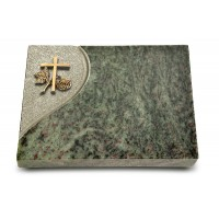 Grabtafel Tropical Green Folio Kreuz 1 (Bronze)