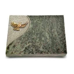 Grabtafel Tropical Green Folio Taube (Bronze)