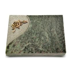 Grabtafel Tropical Green Folio Rose 1 (Bronze)