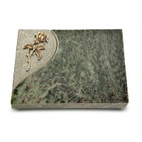 Grabtafel Tropical Green Folio Rose 2 (Bronze)