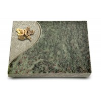 Grabtafel Tropical Green Folio Rose 3 (Bronze)