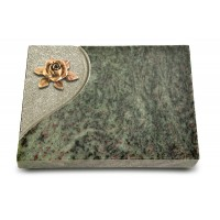 Grabtafel Tropical Green Folio Rose 4 (Bronze)
