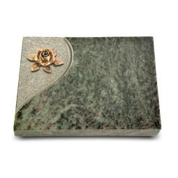 Grabtafel Tropical Green Folio Rose 4 (Bronze)