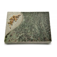 Grabtafel Tropical Green Folio Rose 5 (Bronze)